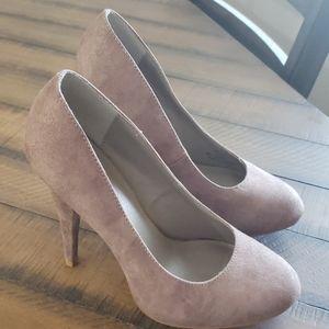 X appeal suede heels